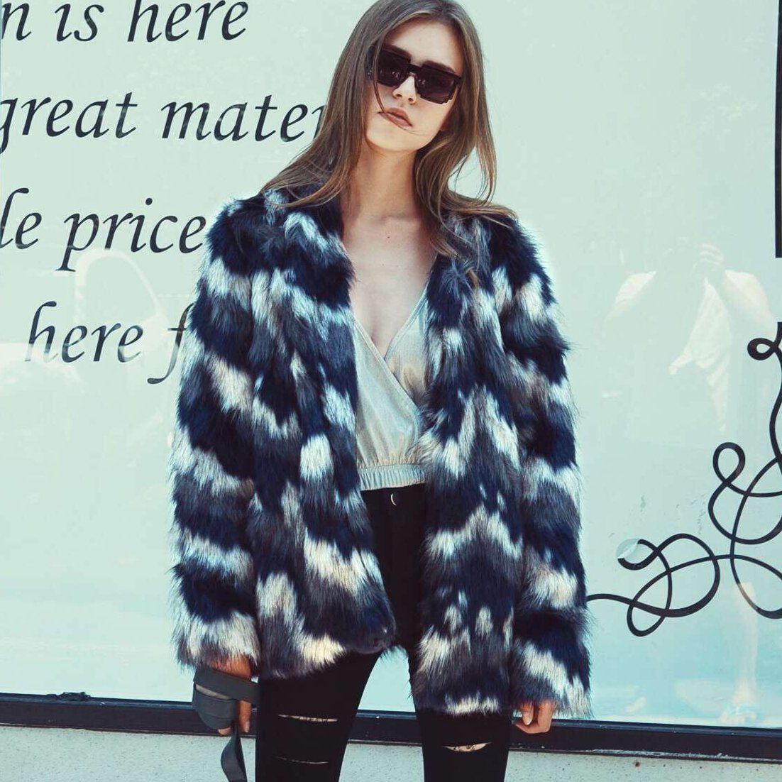 VLUNT Mujer Abrigos de Pieles Chaqueta Invierno Abrigo de Pelo Sintética de Fox Chaqueta Capa Abrigo Largo Fur Coat: Amazon.es: Ropa y accesorios