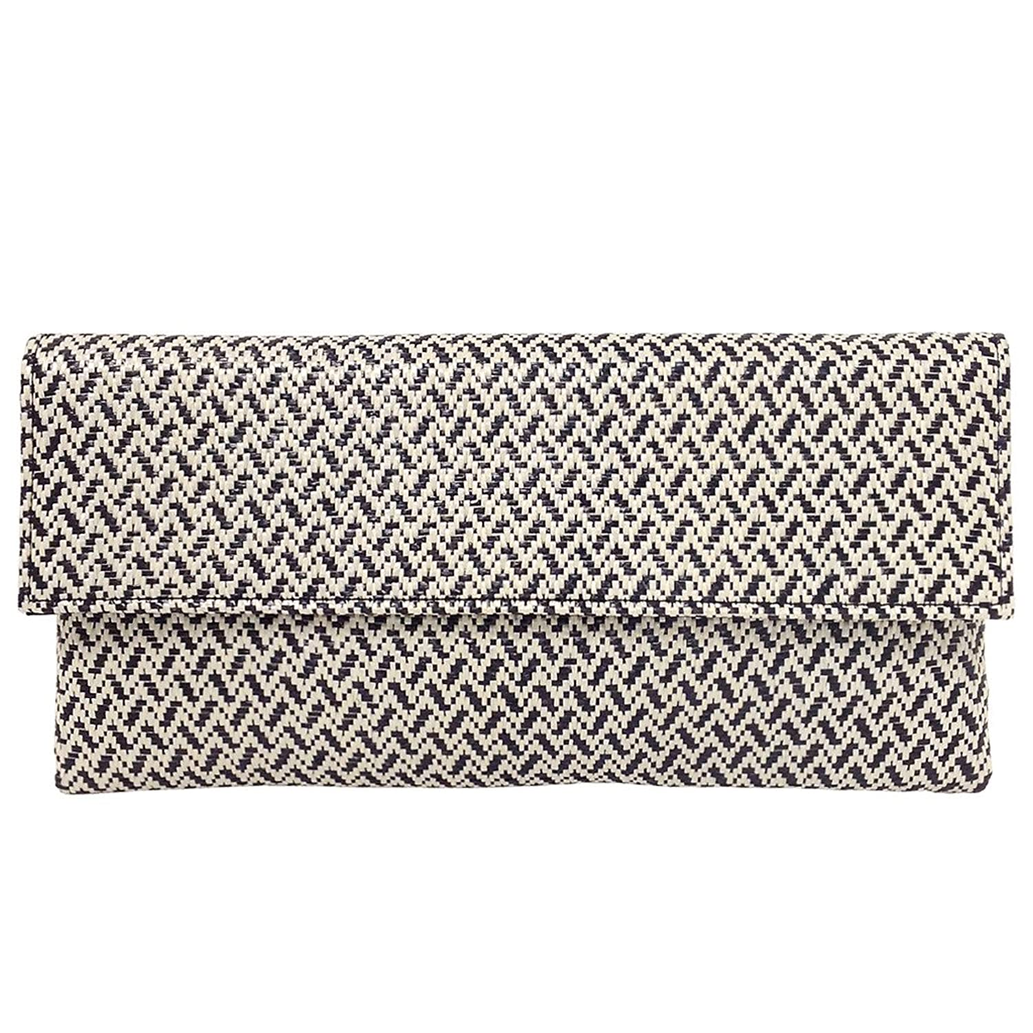Raffia Chevron Clutch by Jnb