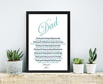 Amazonde Personalisierbar Dad Gedicht Vater Der Braut