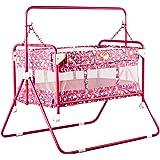 Baybee Baby Comfort Cradle Cot with Wheels (Pink)