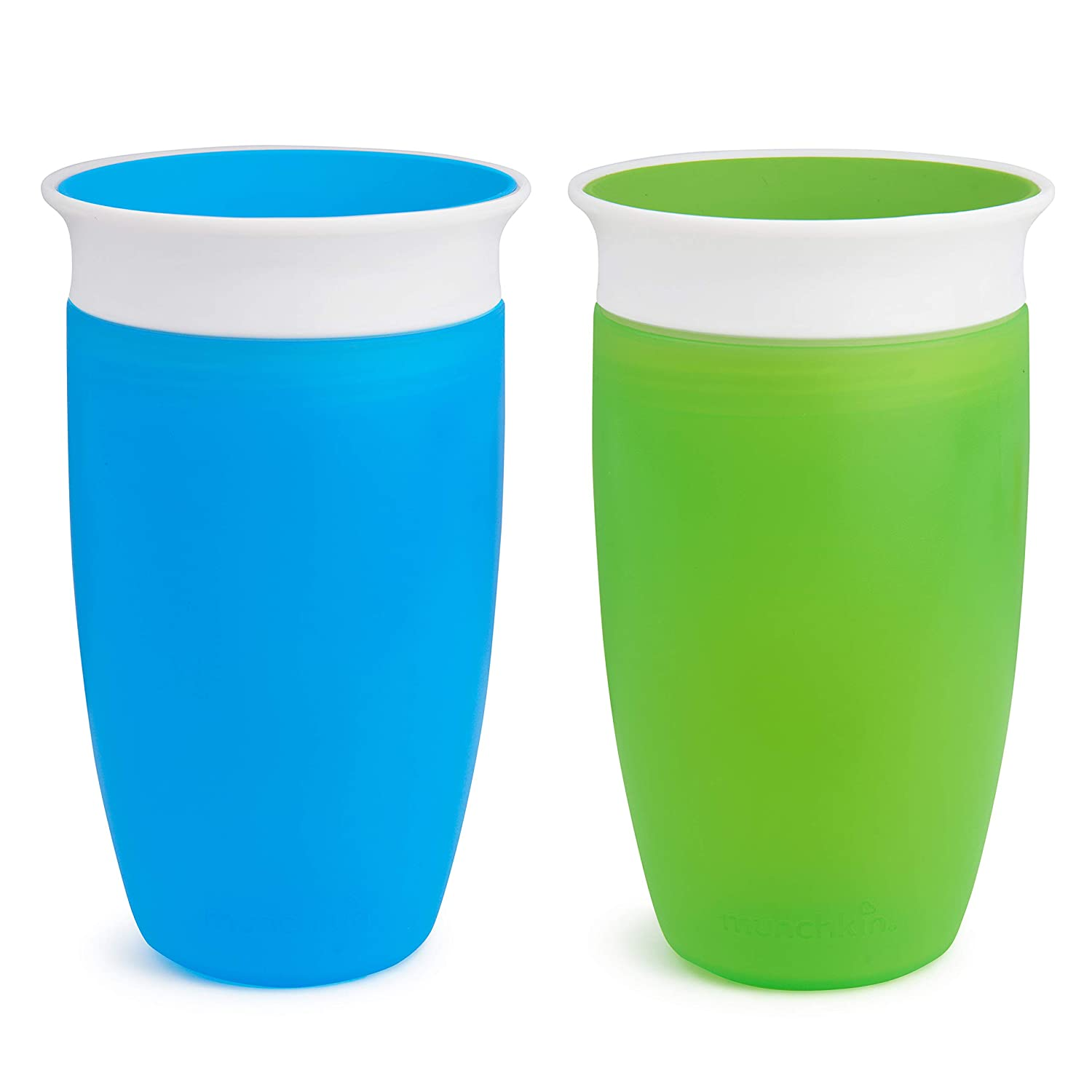2 Pack 10oz Munchkin Miracle 360 Sippy Cup 296ml Blue /& Purple