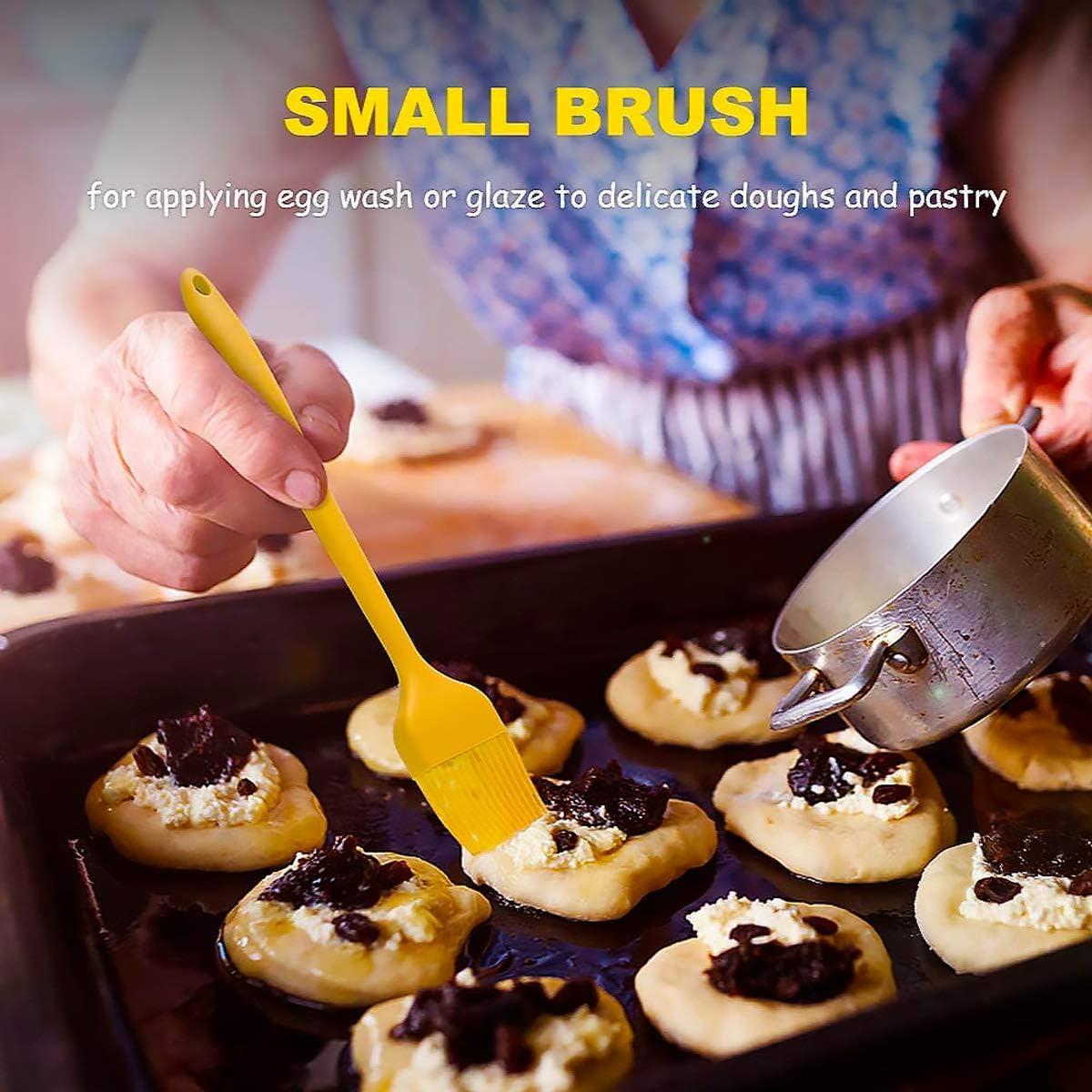 Cepillo para Hornear Barbacoa Basting Pastry Cooking Brushs 9 Piezas Brocha De Silicona para Cocina Reposter/ía Aceite Barbacoa Cocina Cepillo de Silicona Cepillo de Cocina Resistente al Calor