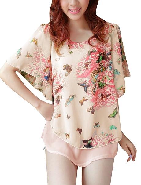 sourcingmap Pantalón Corto Traje de Neopreno Para Mujer Cuello Redondo con Cierre de Solapa y Diseño
