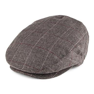 e5beb1b05e4 Jaxon   James Hats Ashford Flat Cap - Grey-Brown  Amazon.co.uk  Clothing