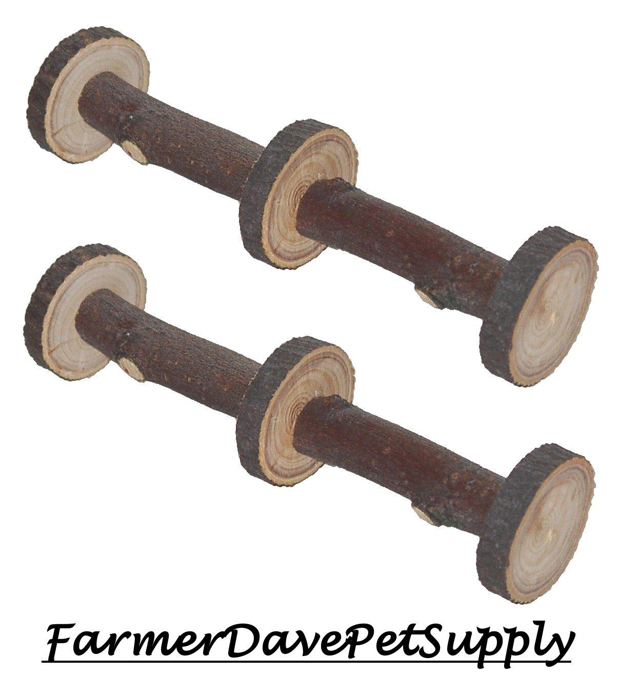 FarmerDavePetSupply Three Wheeler Apple Chew Toy for Small Animals - Dual Pack