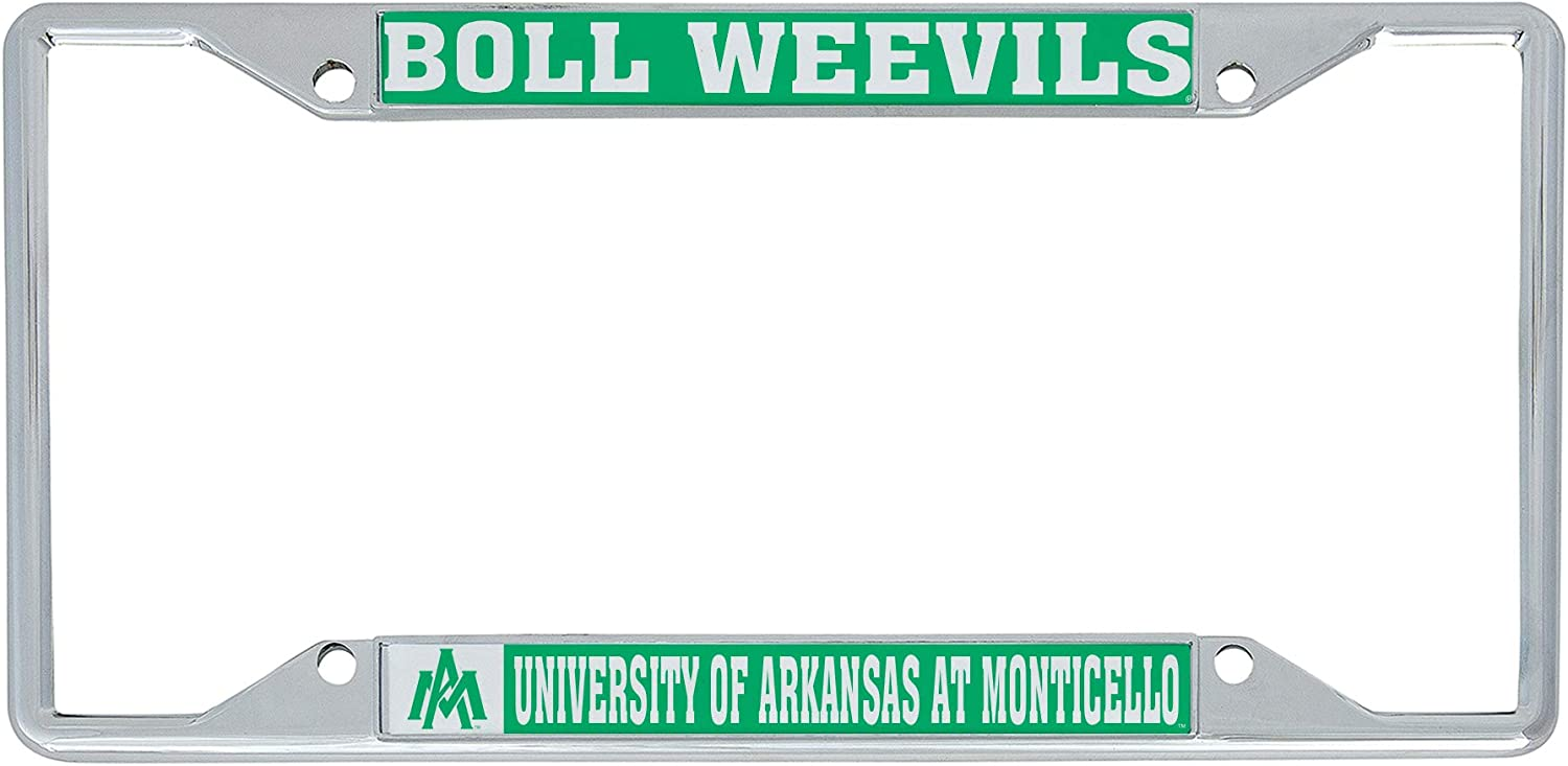 Mascot Desert Cactus University of Arkansas at Monticello UAM Boll Weevils Cotton Blossoms NCAA Metal License Plate Frame for Front or Back of Car Officially Licensed