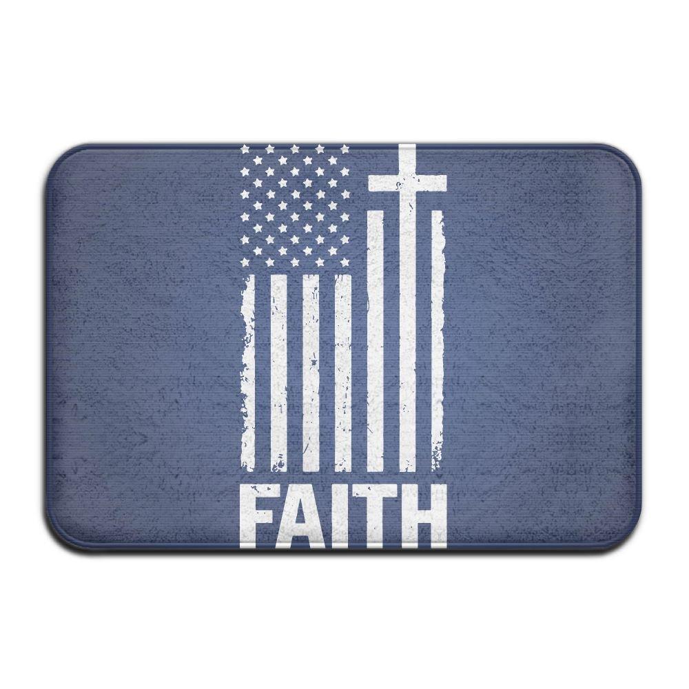 Christian Distressed White USA Flag Eva Cutting Mat
