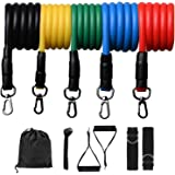 VanlonPro Resistance Bands Set 11pcs,Home Fitness Exercise Bands with Handles Set, Door Anchor Ankle Strap and Carrying Bag L