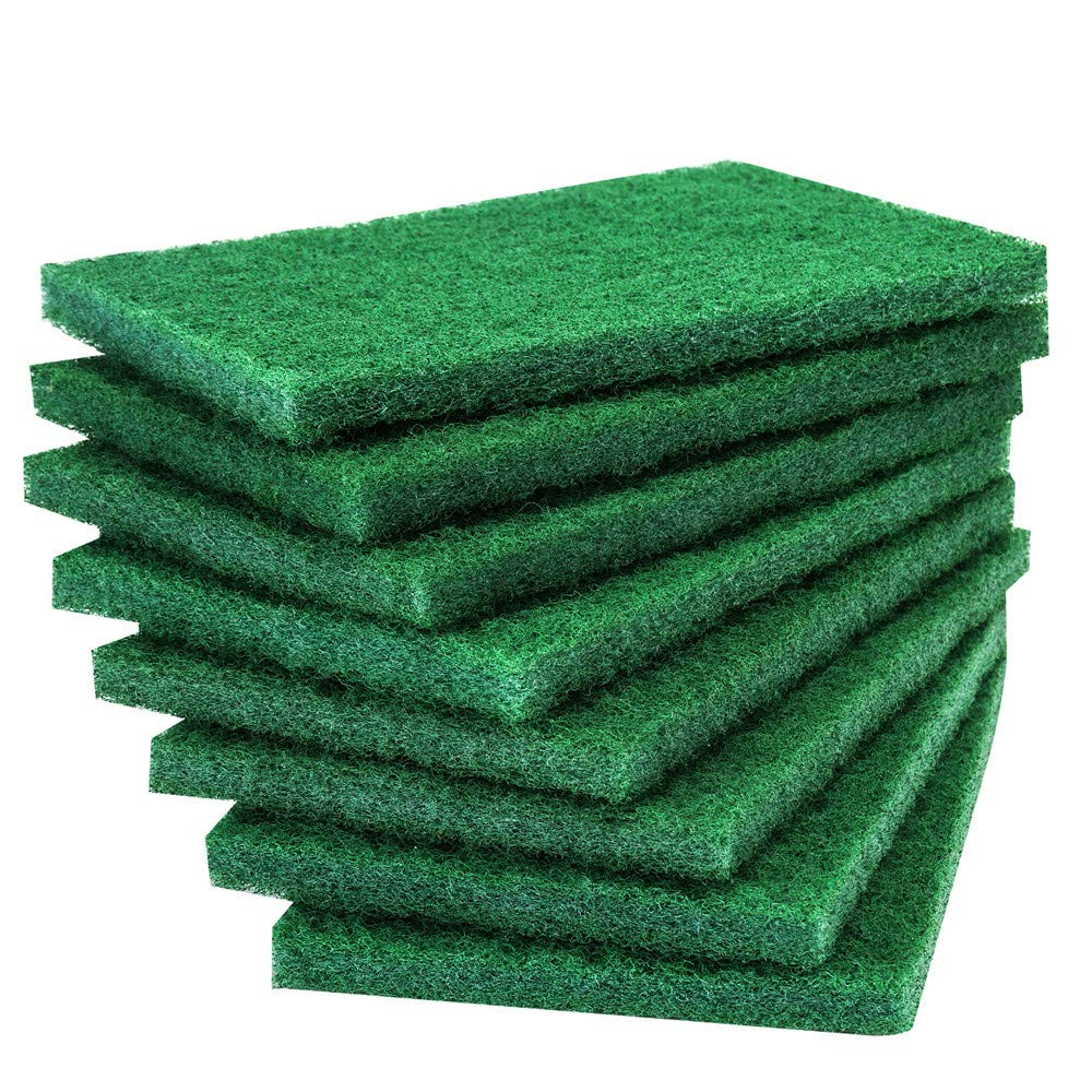 24PCS Scouring Pad - Premium Heavy Duty Scrub Pads with AntiGrease Technology, Reusable Household Green Dish Scrubber, Multipurpose Scour pad - for Kitchen Scrubber & Metal Grills, 3.9 x 5.9 x 0.36IN