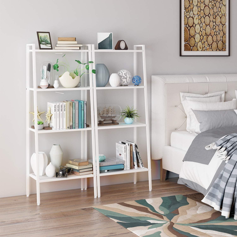 35 147cm Homfa Ladder Shelf Standing Shelf Unit 4 Tier Bookshelf Display Rack Bookcase Storage Black 60