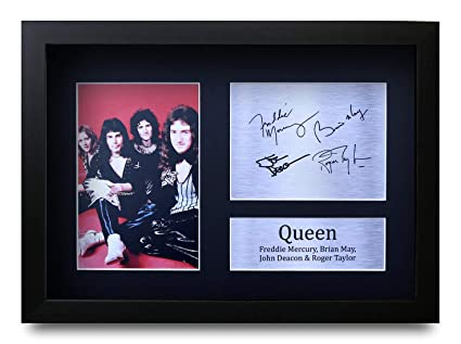 HWC Trading Queen Gift Signed A4 Printed Autograph The Band Gifts Photo Display