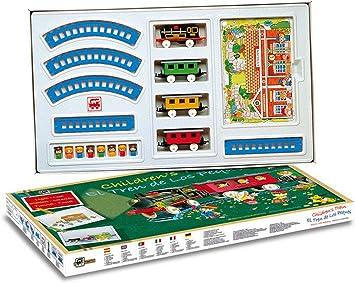 Tren Electrico de Juguete Infantil con LUZ Estacion Tunel Muñecos de 2001_tren: Amazon.es: Juguetes y juegos