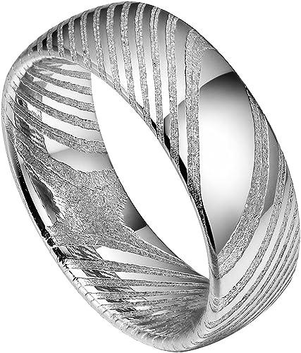 11 Custom Damascus Steel Dome shape Men Ring,Size wedding engagement