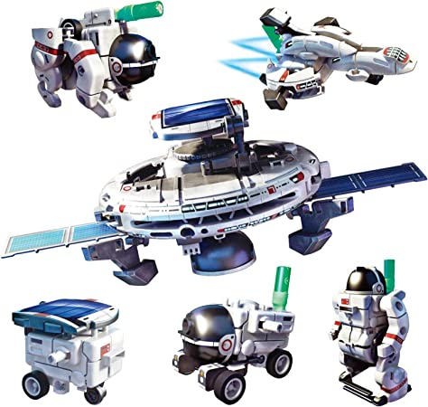 Solar Robots for Kids, 6-in-1 Science Educational Building Toys STEM Projects for Kids Space Moon Exploration Fleet Gifts for Boys, Girls Age 8-12