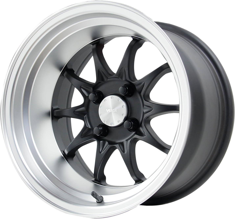 15x9//4x100mm Verde Custom Wheels V26 Boost Matte Black Wheel with Machined Lip