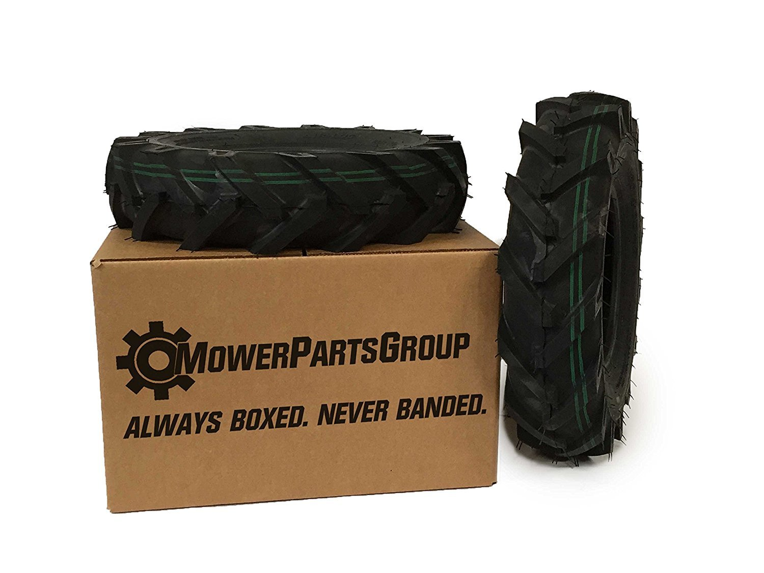 Amazon.com : MowerPartsGroup (2) Tiller Tires with Tubes 4.80x4x8 ...