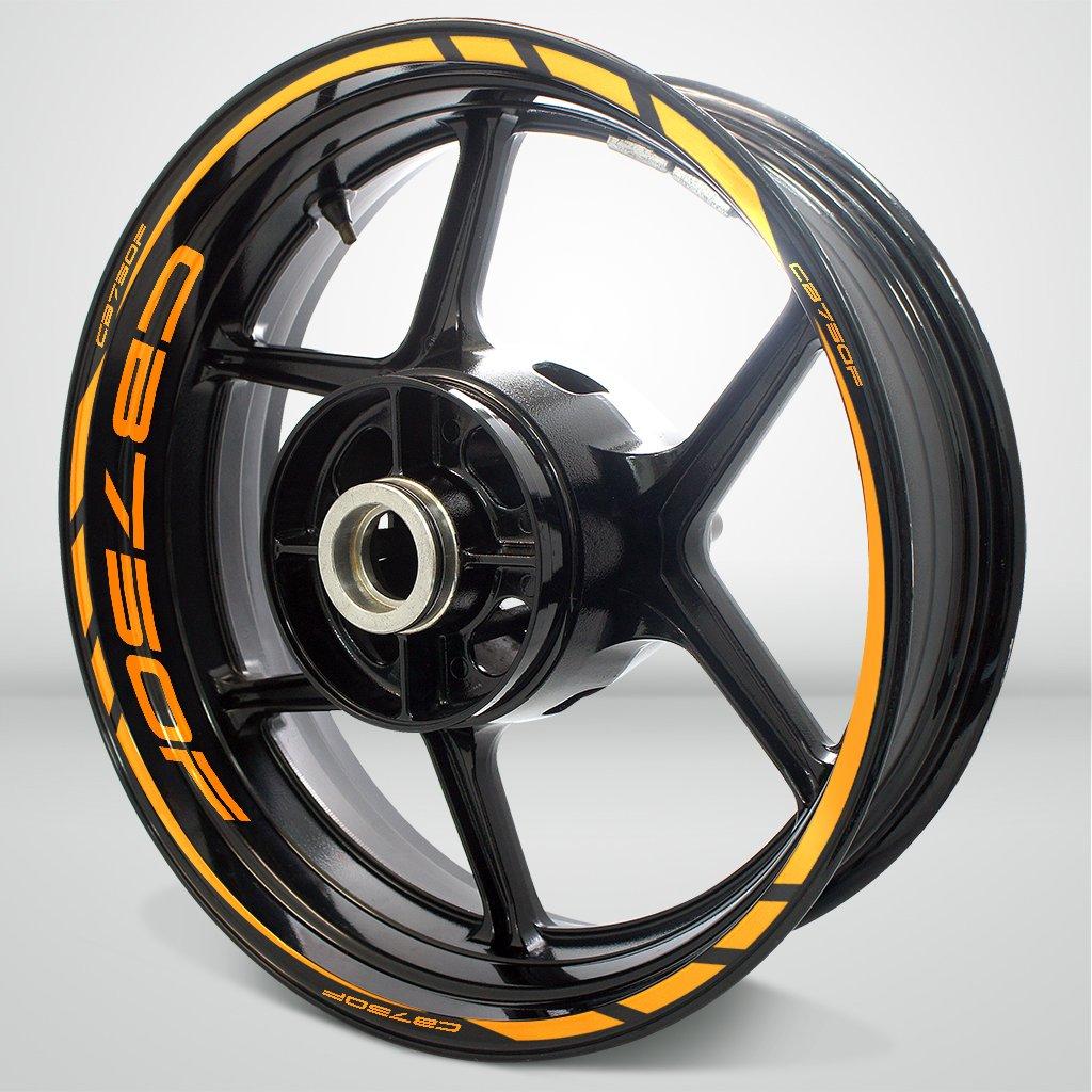 オートバイリムホイールデカールアクセサリーステッカーfor Honda CB 750 F SDPKPWPHO014GO  グロスオレンジ B074C8N3YD