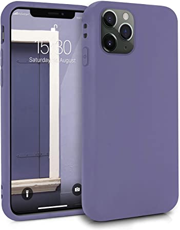 Imagen deMyGadget Funda Slim para Apple iPhone 11 Pro en Silicona TPU - Resistente Carcasa Antichoque Flexible & Protectora - Friendly Pocket Case - Morado Oscuro
