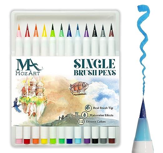 65 opinioni per Set penne con punta a pennello – 12 colori