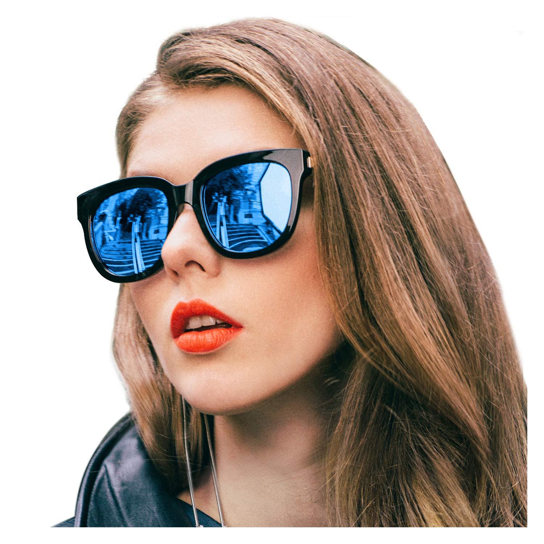 0645de7a92 SIPHEW Gafas de Sol Mujer Grandes Eliminar Reflejos con Protección 100%  UVA/UVB-Gafas de Espejo: Amazon.es: Ropa y accesorios