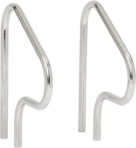 S.R. Smith F4H-102 Figure 4 Swimming Pool Handrail, Stainless Steel, Pair of Rails, 26-Inch
