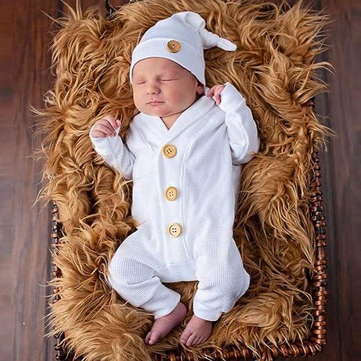 TTLOVE/_Baby 2 Pcs Baby Strampler,TTLOVE Kleinkind Kind Jungen M/ädchen Baby Langarm Bodysuit Strampleranzug Overall+Hut Freizeitkleidung,Baby Kleidung Set
