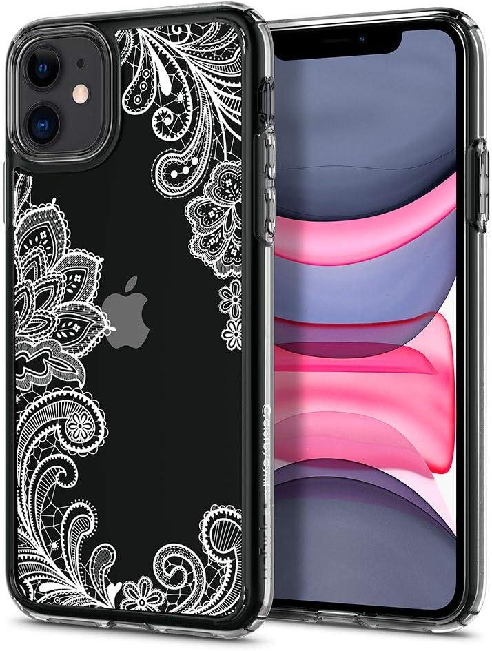 CYRILL Cecile Designed for Apple iPhone 11 Case (2019) Clear | TPU | PC | Bumper | Slim |Plastic - White Mandala