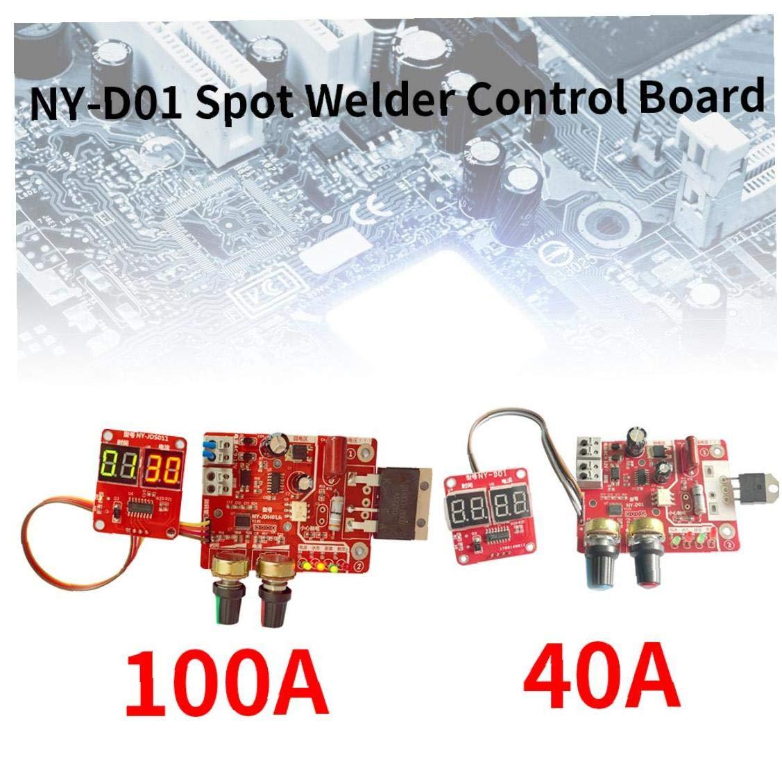 Spot Soudeurs Control Board Ny-d01 Soudure Contr/ôleur Machine R/églable Microcontroller Affichage Num/érique Heure Actuelle 40a