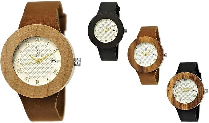 Hecha a mano de madera de Alemania® – Reloj de mujer con certificado de madera
