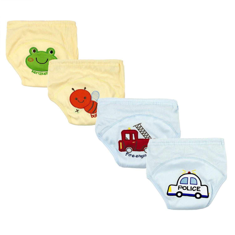 BIG ELEPHANT Baby Boys 4 Pack Cotton Training Pants B99C B99C-90