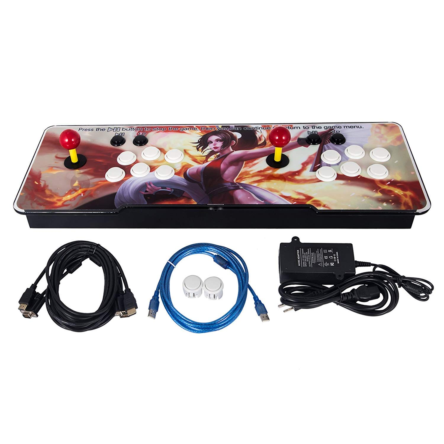 Happybuy 1500 Classic Arcade Game Machine 2 Players Pandoras Box 9s 1280x720 Full HD Video Game Console with Arcade Joystick Support HDMI VGA Output by Happybuy (Image #2)