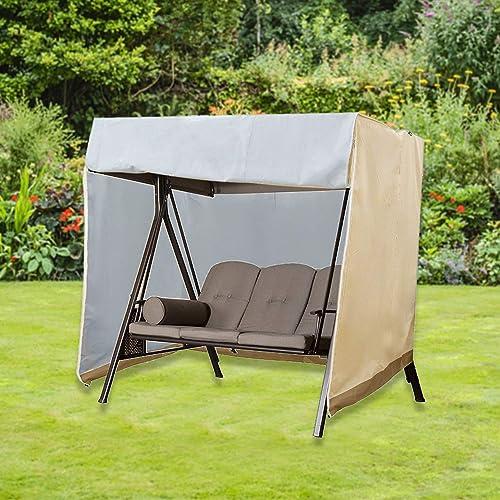 SHANGXING Outdoor Patio Waterproof Garden Swing - best porch swings with canopy
