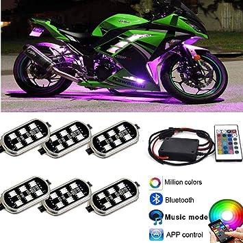 Kingshowstar 10 pc RGB LED underbody motorcycle Strip Lights Kit Multi-Color Neon w//bluetooth remote Controller for ATV UTV Cruiser Harley Davidson Ducati Suzuki Honda Triumph BMW Kawasaki Yamaha