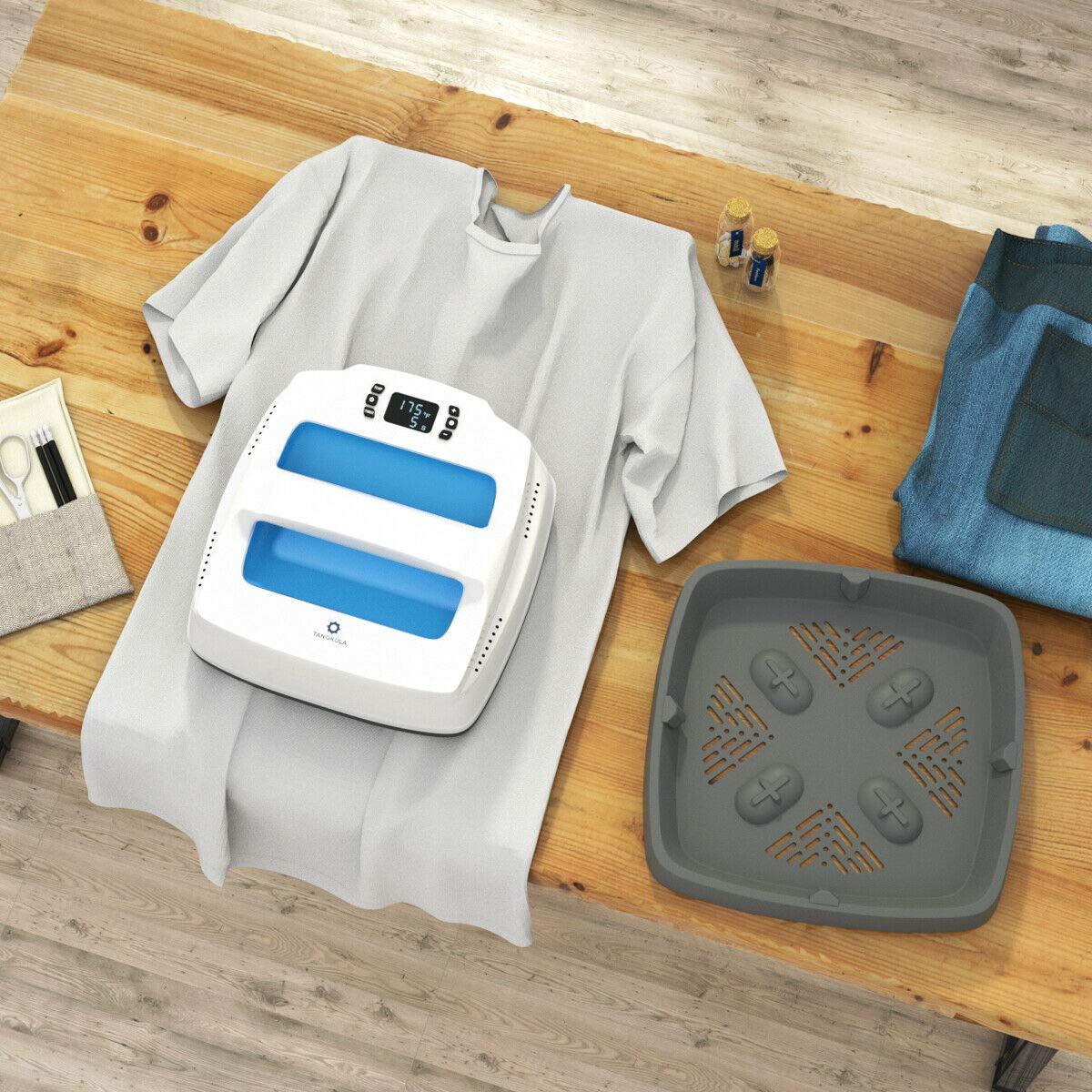 9 x 9 Inches Portable Professional Heat Transfer Home Easy Heat Press T-Shirt Press Printing Machine Blue Tangkula Heat Press Machine Multi-Function Digital Temperature Control Heat Press