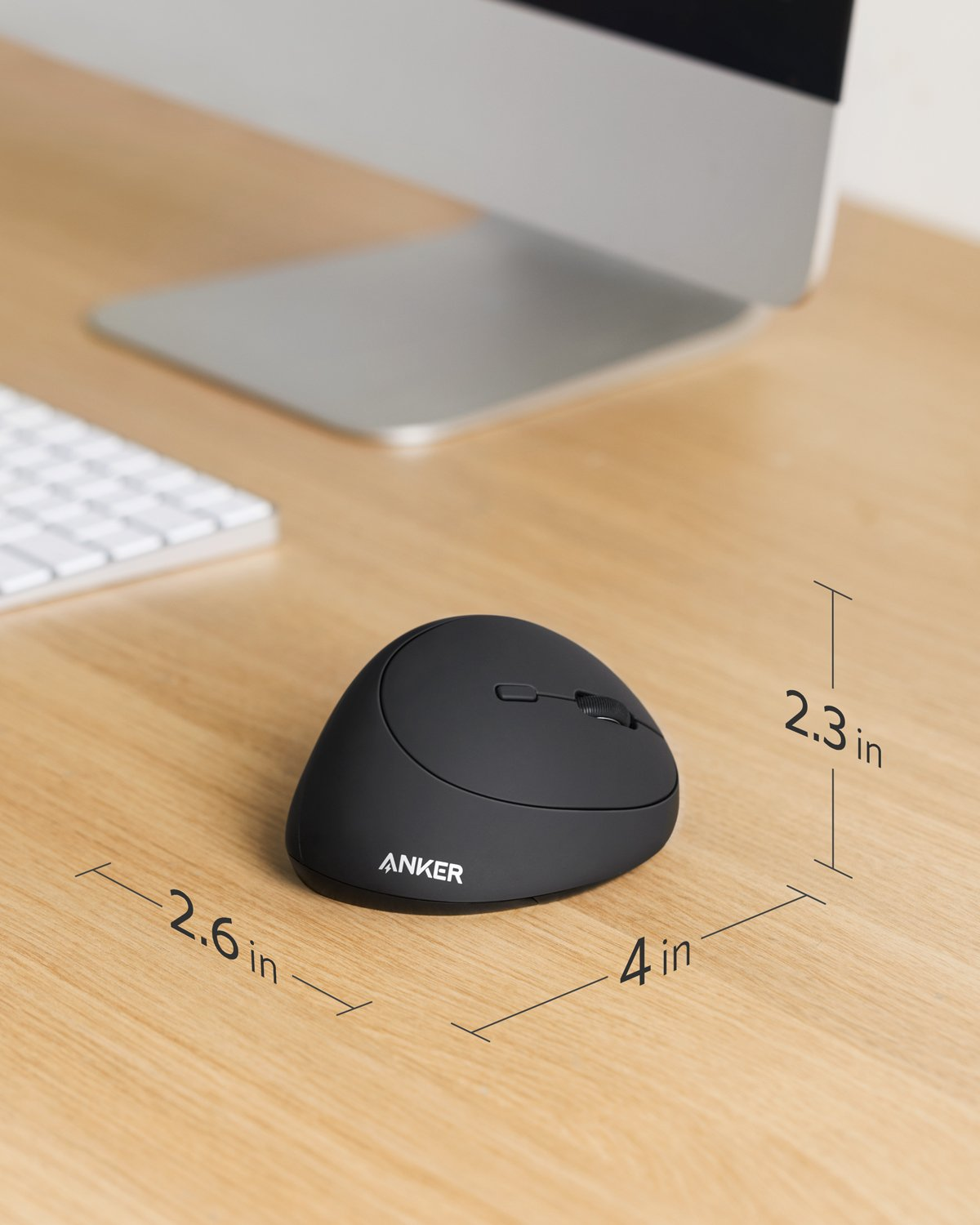 1c84acc3202 2.4G Wireless Connection for PC Anker Wireless Vertical Ergonomic Mouse  with 800/1200/1600 DPI ...
