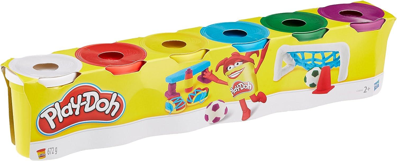HASBRO Play-Doh c3898eu4 6 unidades, colores primarios plastilina ...