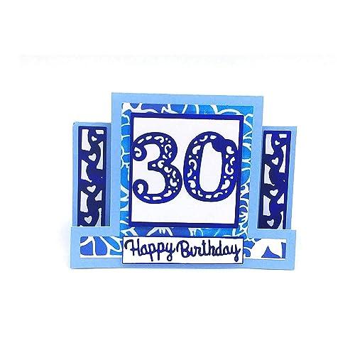 Carte De Voeux Carterie Carte Anniversaire A Personnaliser Carte 30 Ans 20 Ans 40 Ans Carte Happy Birthday Carte D Anniversaire Femme Enfant Homme Carte 3d Amazon Fr Handmade
