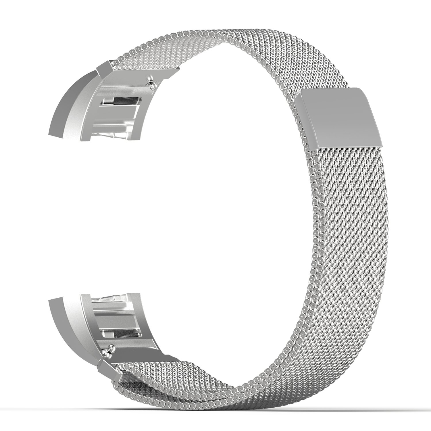 silver steel small wristband band strap bracelet accessories for fitbit charge 2 ebay. Black Bedroom Furniture Sets. Home Design Ideas
