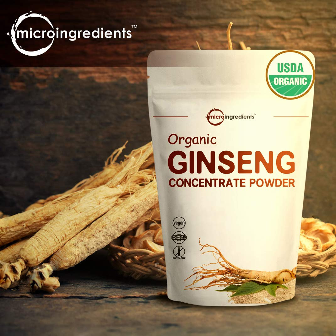 Maximum Strength Organic Ginseng Root 200:1 Powder, 4 Ounce, Support Energy, Immune, Mental Health & Physical Performance, Non-Irradiated, Non-Pesticide, Non-GMO and Vegan Friendly by Micro Ingredients (Image #3)