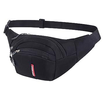 d9358d0cad5d Yooluan Bumbag Fanny Packs 3 Zip Pockets Running Hiking Outdoor Sport Waist  Bag Money Hip Pouch pack for Men Women