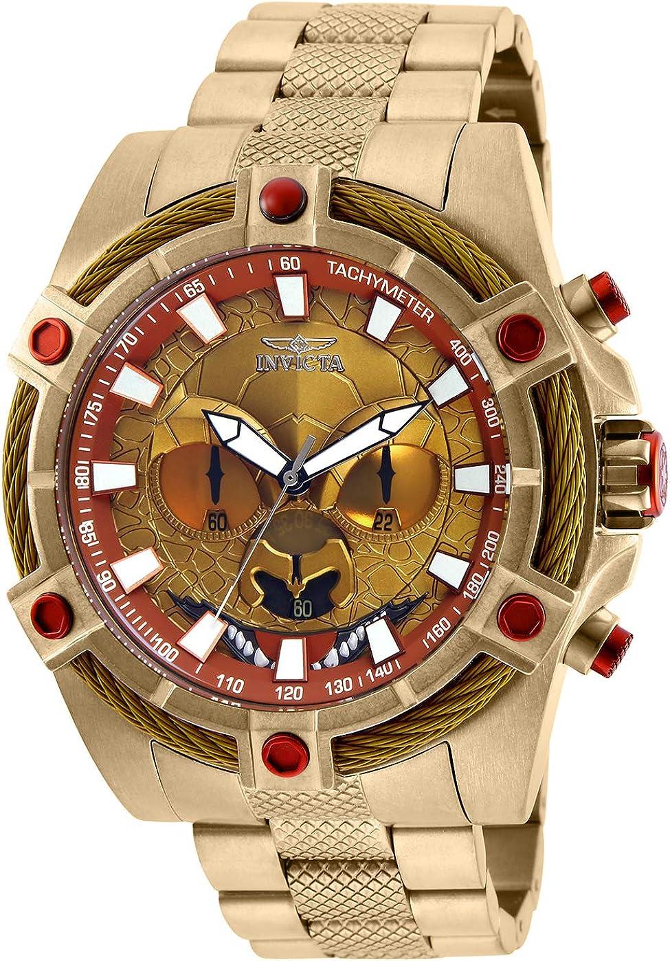 Invicta Men s Star Wars Quartz Watch with Stainless-Steel Strap, Gold, 26 Model 27237