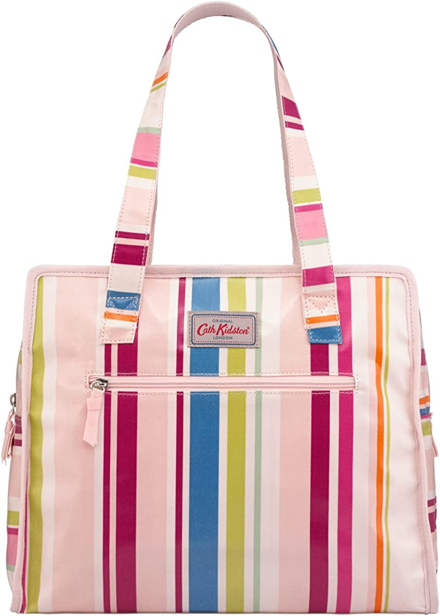 Cath Kidston Large Pandora Bag | Women's Guernsey Embroidered Shoulder Bag | Female's Imported Zipped Bags | Stylish & Fashionable European Style | Teenage Girls Vintage Durable Bag (Multi Stripe)