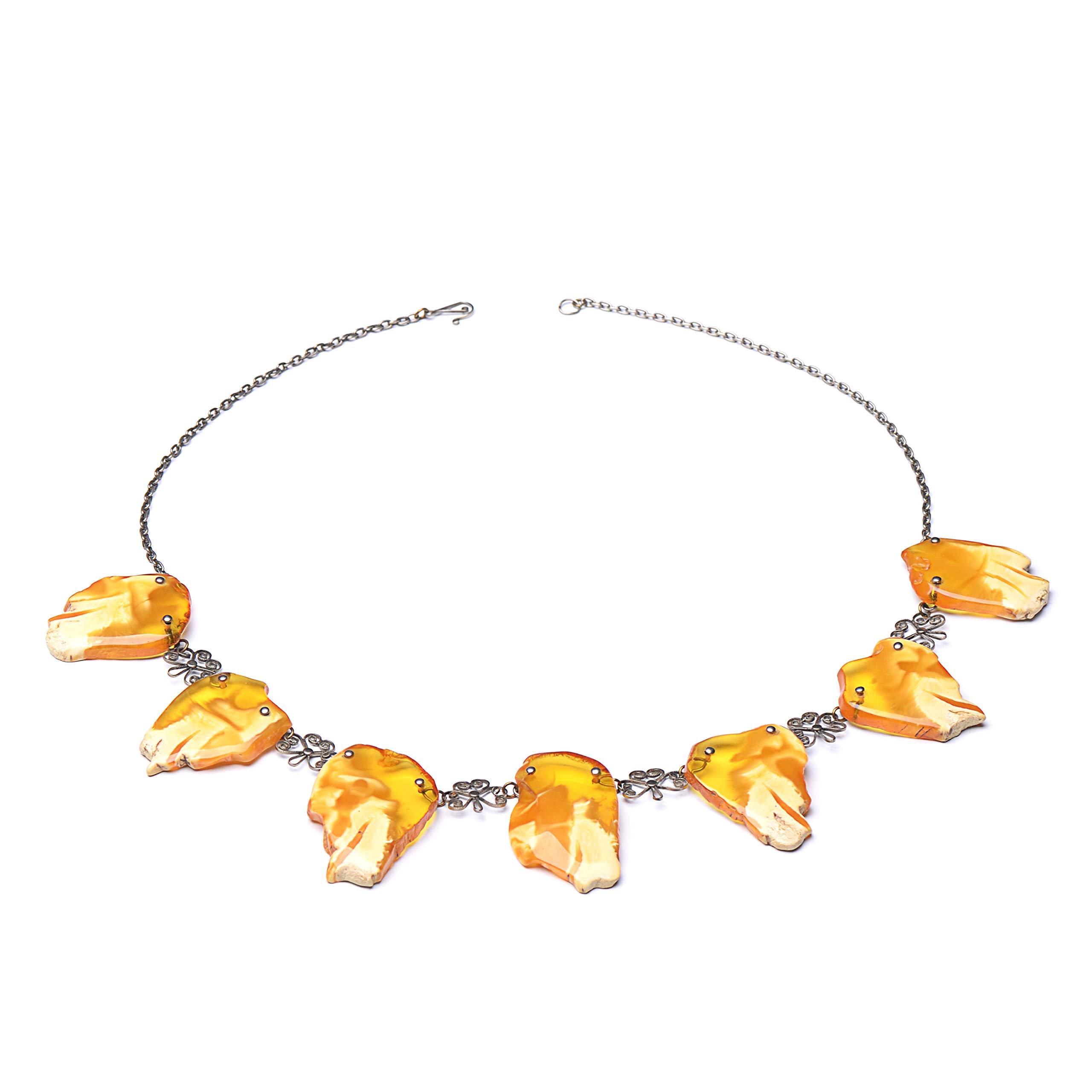 Elegant Unique Baltic Amber Necklace - Vintage Amber Necklace - Unique Piece - Amber Jewelry by Genuine Amber