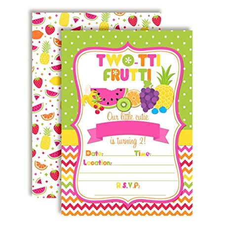 Amazon Tutti Frutti Sweet And Juicy 2nd Birthday Party