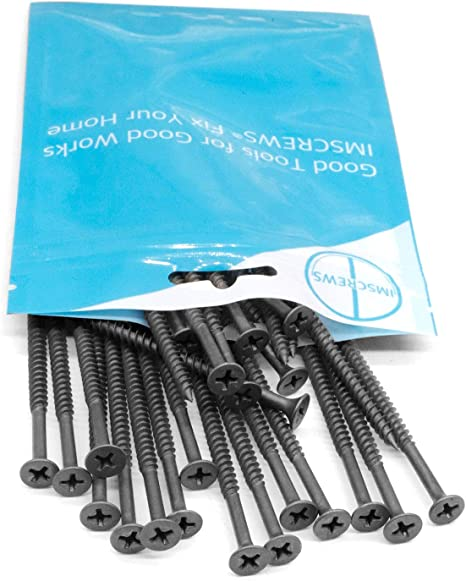 Carbon Steel 1022A Black Phosphate IMScrews 200pcs #6x3//4 Flat Head Phillips Drywall Screws Fine Thread Sharp Point Wood Screw Assortment Kit