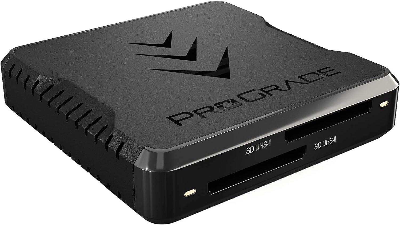 ProGrade Digital SD UHS-II Dual-Slot Memory Card Reader USB 3.2 Gen 2 for Professional Filmmakers, Photographers & Content Creators