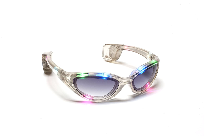 5 Light-Up Shutter Glasses LED Shades Sun Glasses Flashing Rock Wedding Party