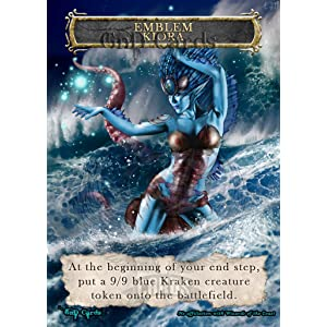 photograph regarding Mtg Tokens Printable titled : 1x Kiora, Find out of the Depths Symbol #2 Tailor made