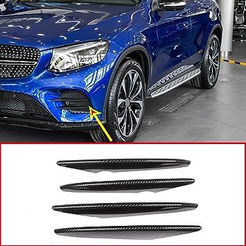 4 tiras de fibra de carbono ABS para la entrada de aire del coche, accesorios para Benz GLC-Class X253: Amazon.es: Coche y moto