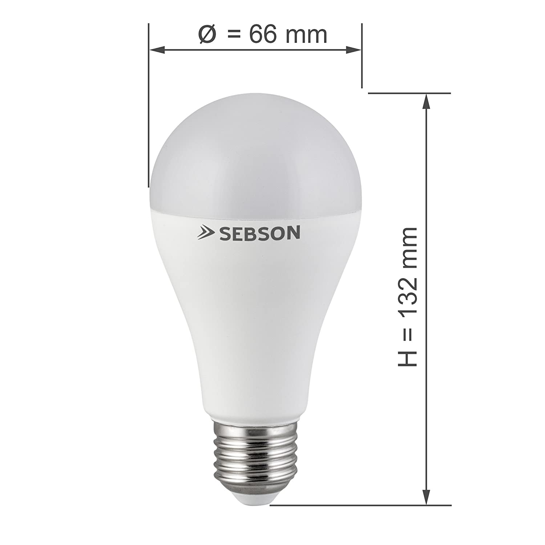 SEBSON® LED Lampen E27 RGB Farbwechsel, bunt 15 Farben, dimmbar, 4 ...